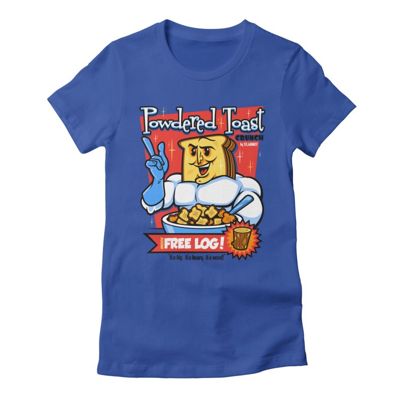 Powdered Toast Crunch Women's Fitted T-Shirt by harebrained's Artist Shop