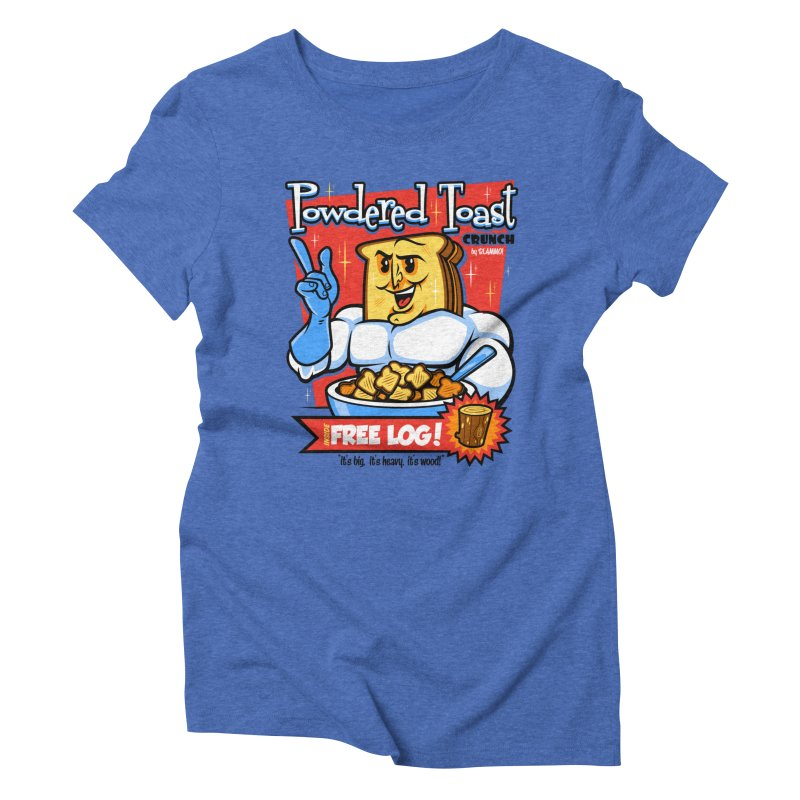 Powdered Toast Crunch Women's Triblend T-Shirt by harebrained's Artist Shop