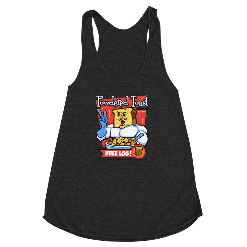 Powdered Toast Crunch Women's Racerback Triblend Tank by harebrained's Artist Shop