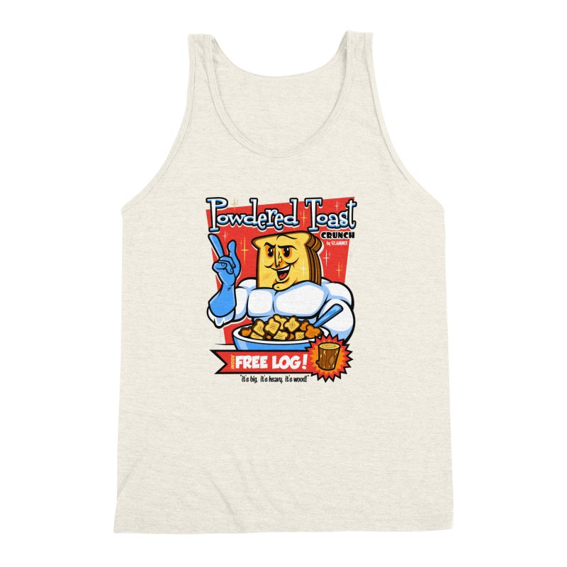 Powdered Toast Crunch Men's Triblend Tank by harebrained's Artist Shop