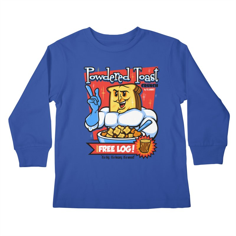 Powdered Toast Crunch Kids Longsleeve T-Shirt by harebrained's Artist Shop