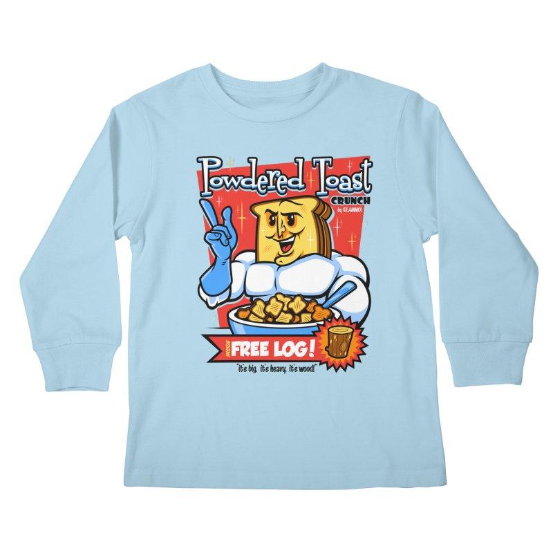 Powdered Toast Crunch Kids Longsleeve T-Shirt by harebrained's Artist Shop