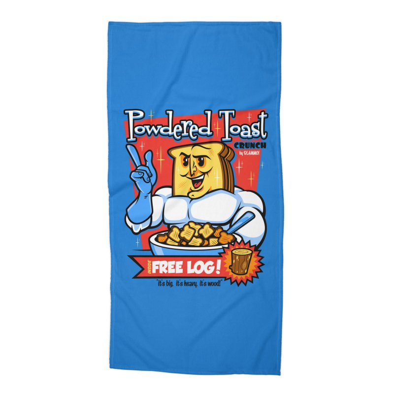 Powdered Toast Crunch Accessories Beach Towel by harebrained's Artist Shop