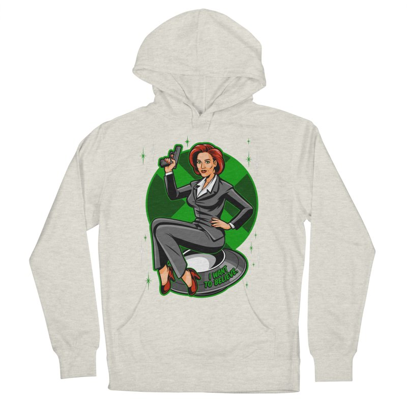 Scully Pin-Up Women's Pullover Hoody by harebrained's Artist Shop