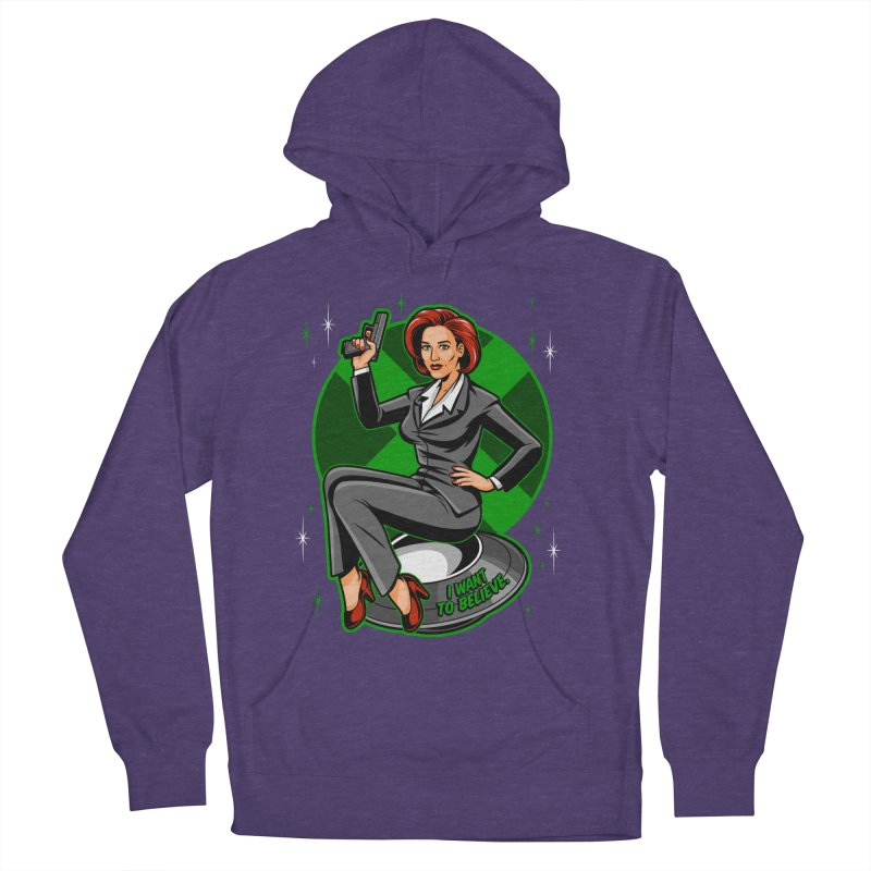 Scully Pin-Up Men's French Terry Pullover Hoody by harebrained's Artist Shop