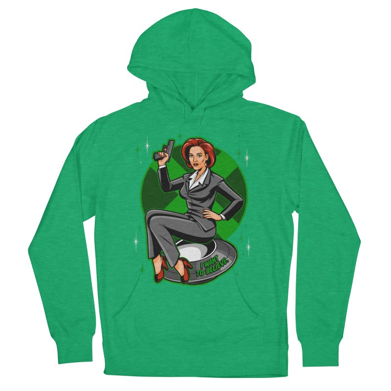 Scully Pin-Up Men's Pullover Hoody by harebrained's Artist Shop
