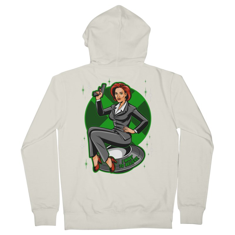 Scully Pin-Up Women's French Terry Zip-Up Hoody by harebrained's Artist Shop
