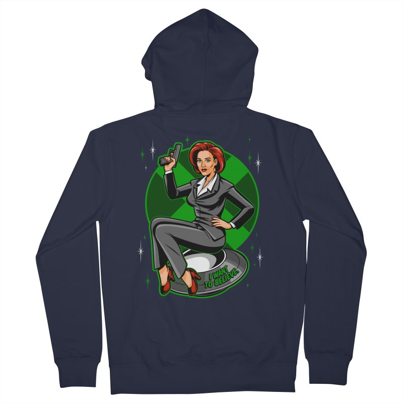 Scully Pin-Up Women's Zip-Up Hoody by harebrained's Artist Shop
