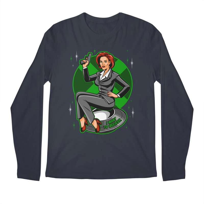 Scully Pin-Up Men's Longsleeve T-Shirt by harebrained's Artist Shop
