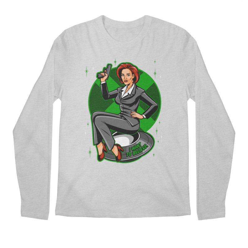 Scully Pin-Up Men's Regular Longsleeve T-Shirt by harebrained's Artist Shop