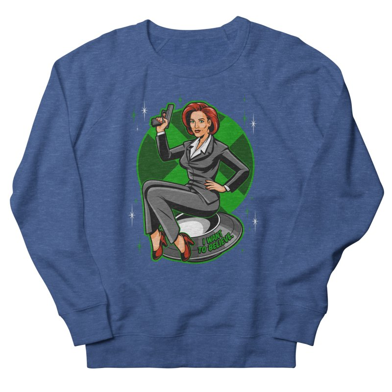 Scully Pin-Up Women's French Terry Sweatshirt by harebrained's Artist Shop