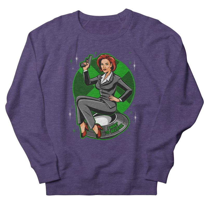 Scully Pin-Up Men's Sweatshirt by harebrained's Artist Shop
