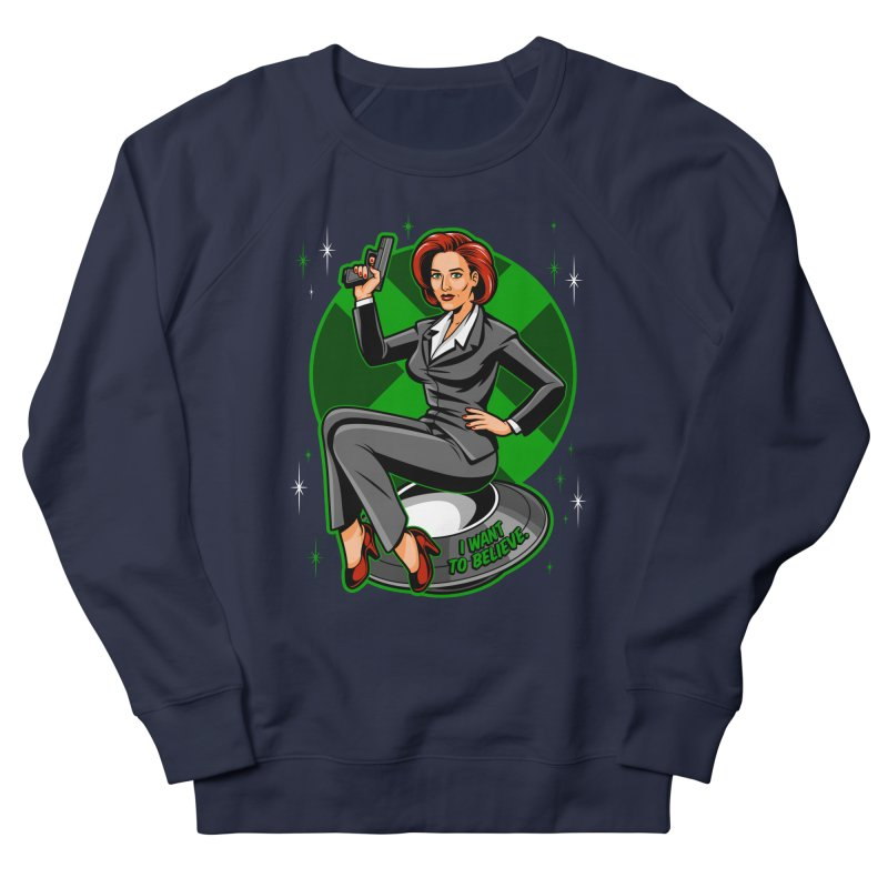 Scully Pin-Up Men's French Terry Sweatshirt by harebrained's Artist Shop