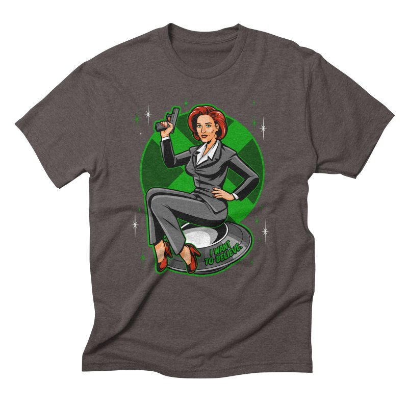 Scully Pin-Up Men's Triblend T-Shirt by harebrained's Artist Shop