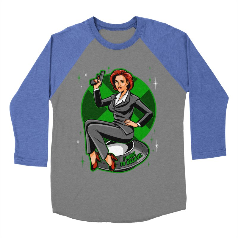 Scully Pin-Up Women's Baseball Triblend T-Shirt by harebrained's Artist Shop