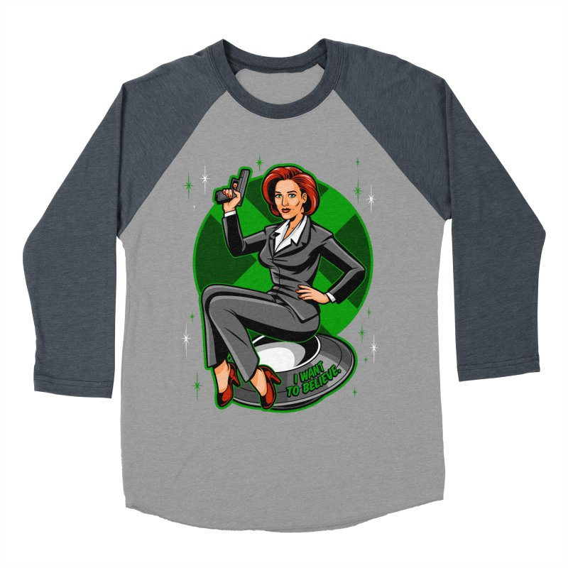 Scully Pin-Up Women's Baseball Triblend Longsleeve T-Shirt by harebrained's Artist Shop