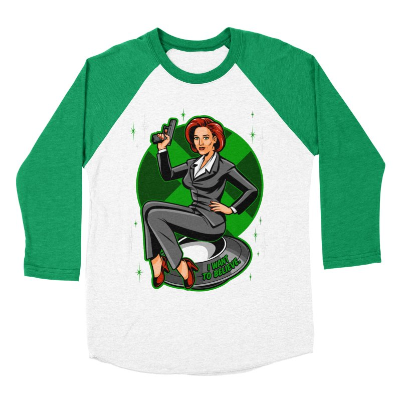 Scully Pin-Up Men's Baseball Triblend T-Shirt by harebrained's Artist Shop