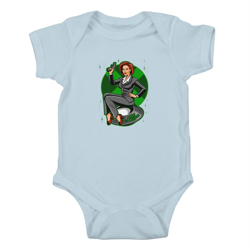 Scully Pin-Up Kids Baby Bodysuit by harebrained's Artist Shop