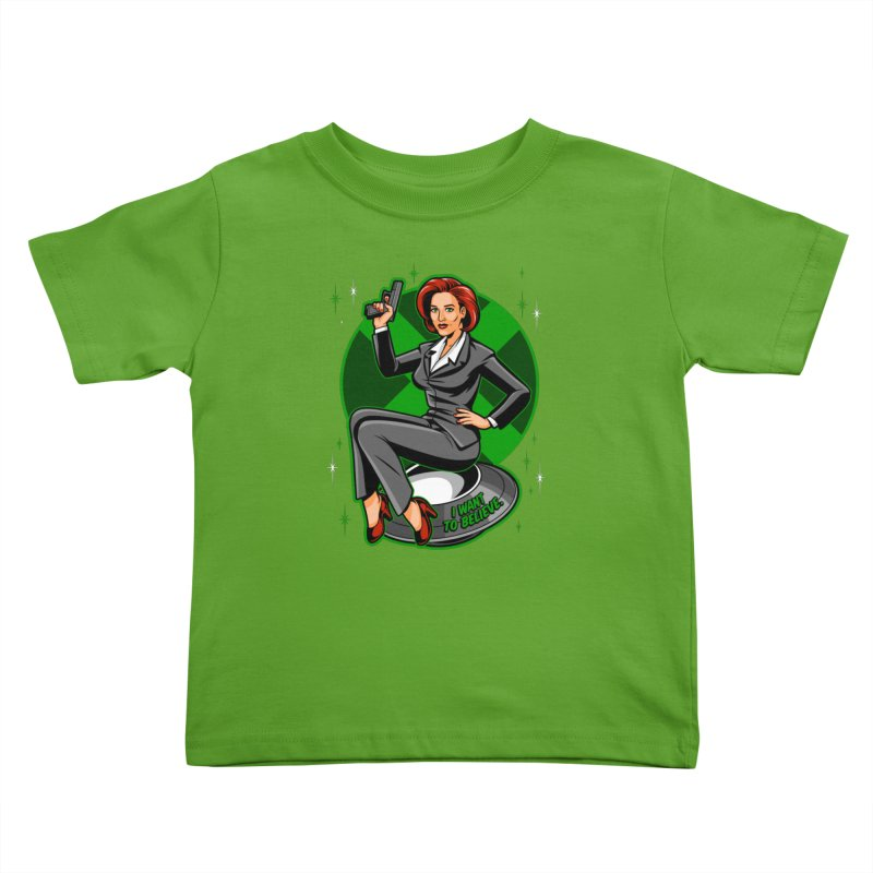 Scully Pin-Up Kids Toddler T-Shirt by harebrained's Artist Shop