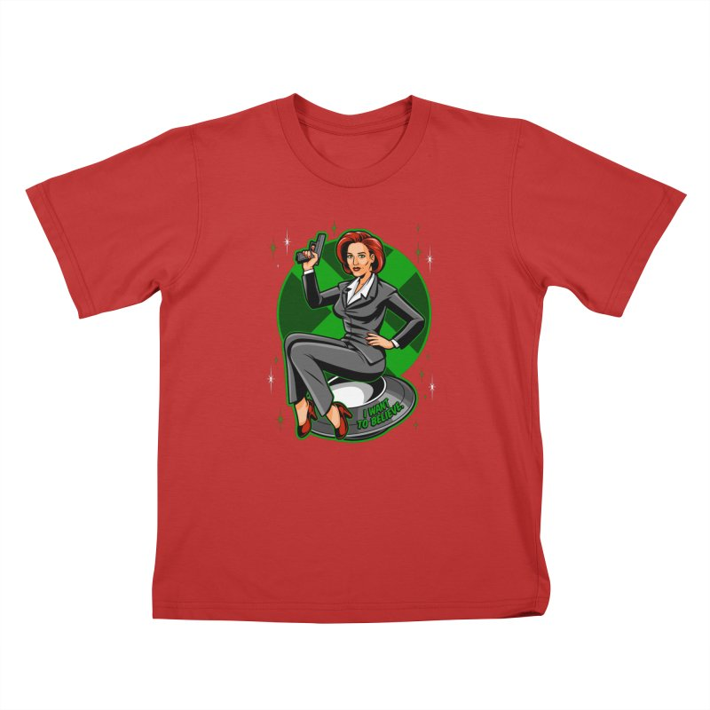 Scully Pin-Up Kids T-Shirt by harebrained's Artist Shop
