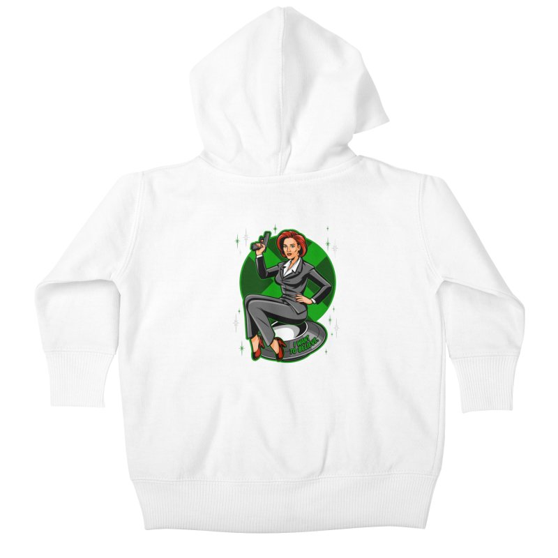 Scully Pin-Up Kids Baby Zip-Up Hoody by harebrained's Artist Shop