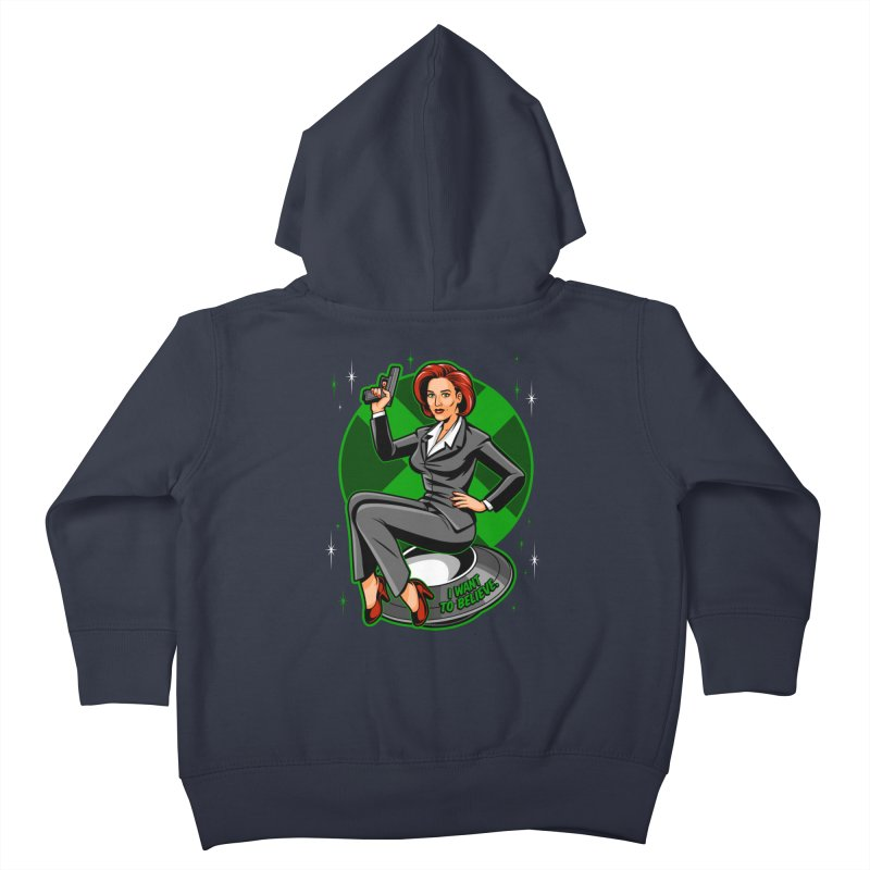 Scully Pin-Up Kids Toddler Zip-Up Hoody by harebrained's Artist Shop