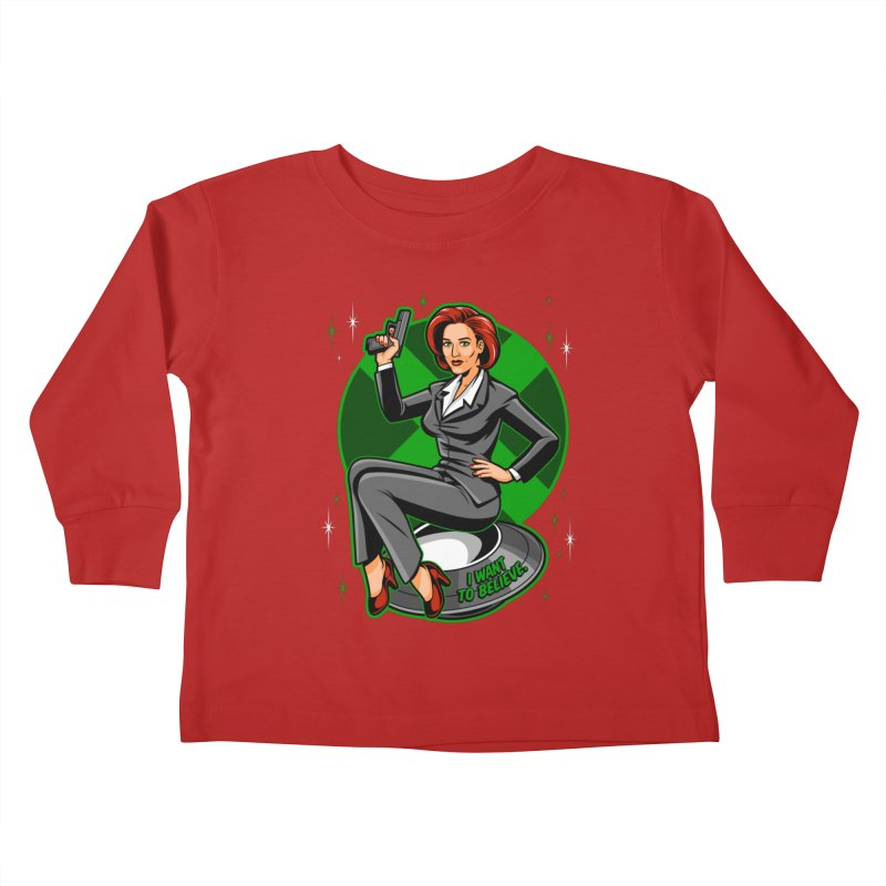 Scully Pin-Up Kids Toddler Longsleeve T-Shirt by harebrained's Artist Shop
