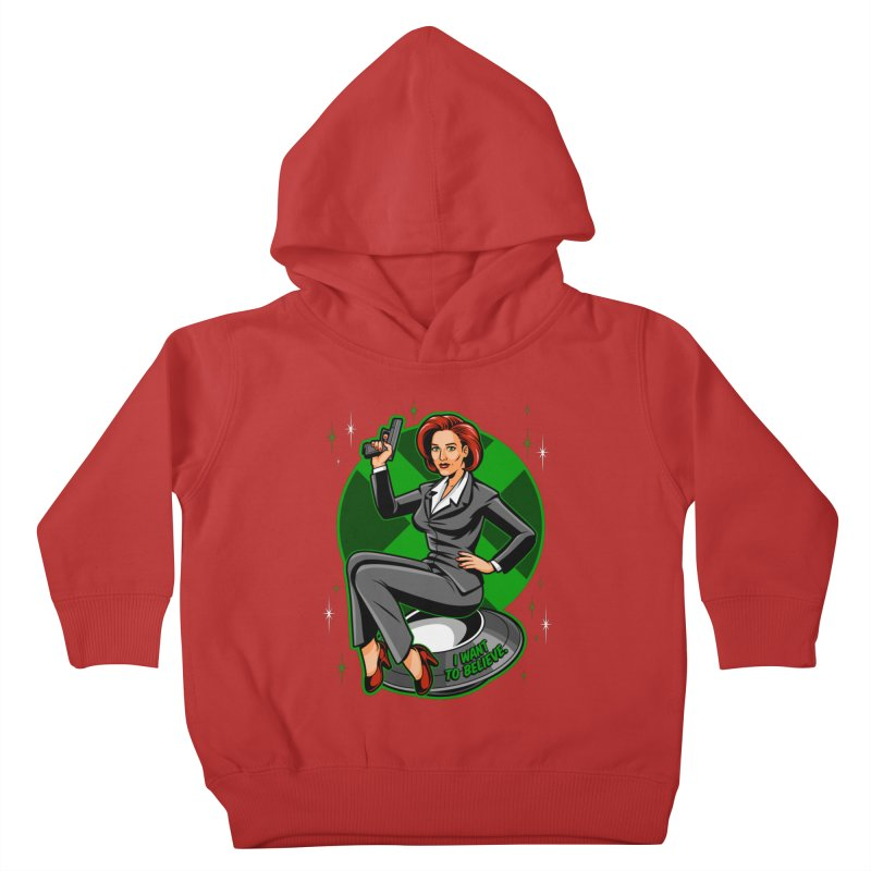 Scully Pin-Up Kids Toddler Pullover Hoody by harebrained's Artist Shop