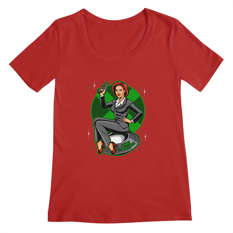 Scully Pin-Up Women's Scoopneck by harebrained's Artist Shop