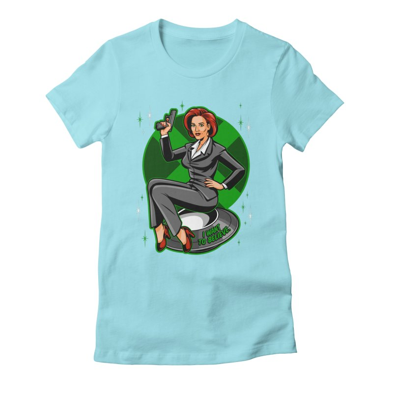 Scully Pin-Up Women's Fitted T-Shirt by harebrained's Artist Shop