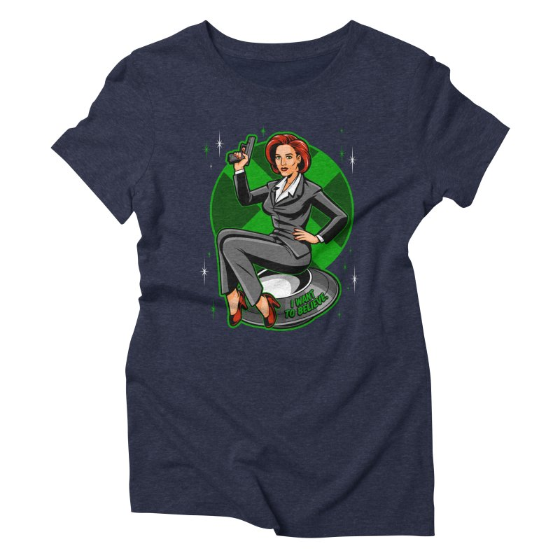 Scully Pin-Up Women's Triblend T-Shirt by harebrained's Artist Shop