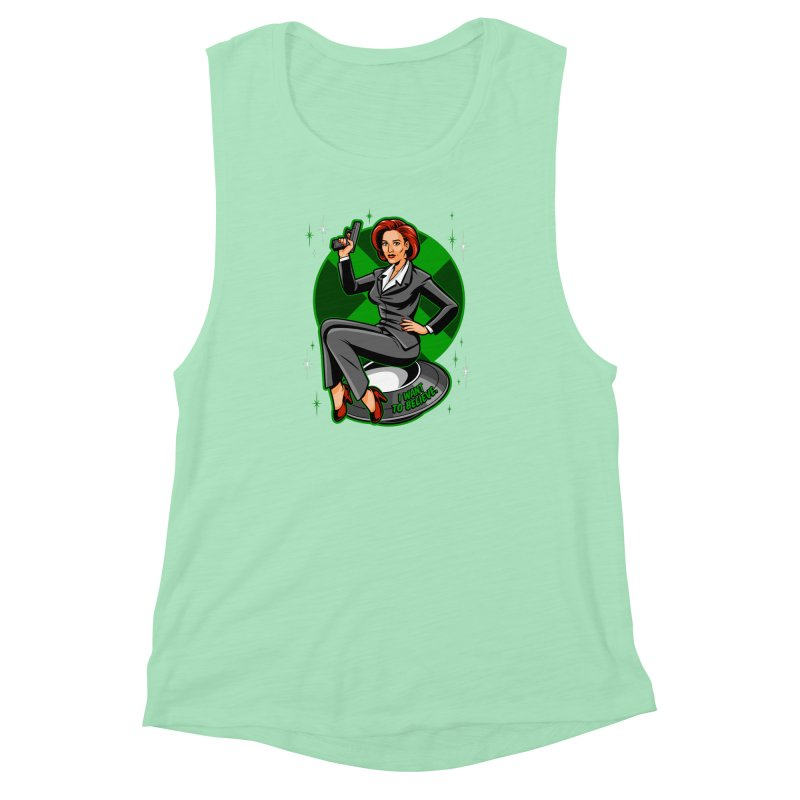 Scully Pin-Up Women's Muscle Tank by harebrained's Artist Shop