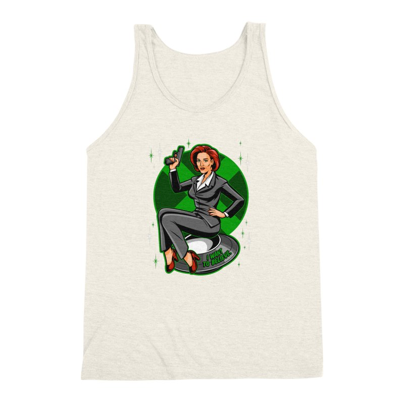 Scully Pin-Up Men's Triblend Tank by harebrained's Artist Shop