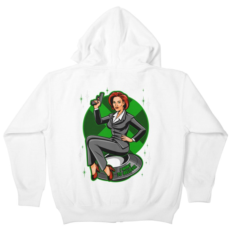 Scully Pin-Up Kids Zip-Up Hoody by harebrained's Artist Shop