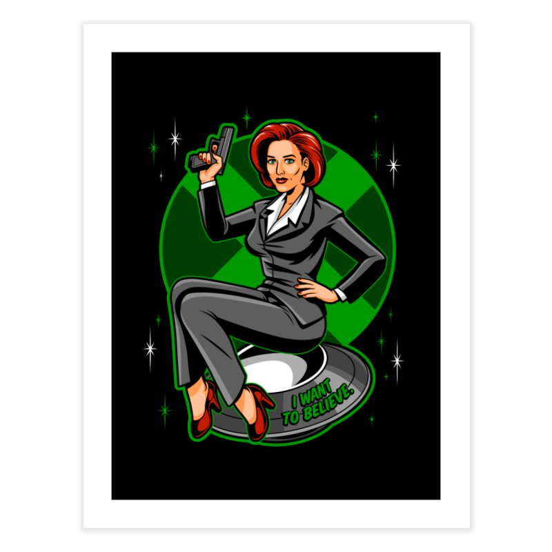 Scully Pin-Up Home Fine Art Print by harebrained's Artist Shop