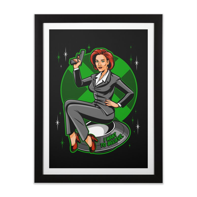Scully Pin-Up Home Framed Fine Art Print by harebrained's Artist Shop