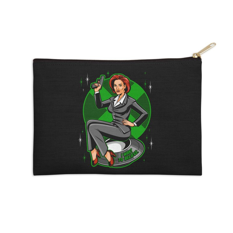 Scully Pin-Up Accessories Zip Pouch by harebrained's Artist Shop