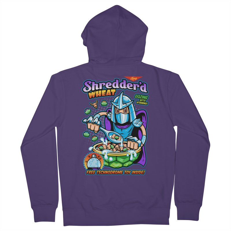 Shredder'd Wheat Women's French Terry Zip-Up Hoody by harebrained's Artist Shop