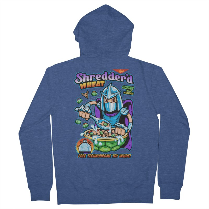 Shredder'd Wheat Men's French Terry Zip-Up Hoody by harebrained's Artist Shop