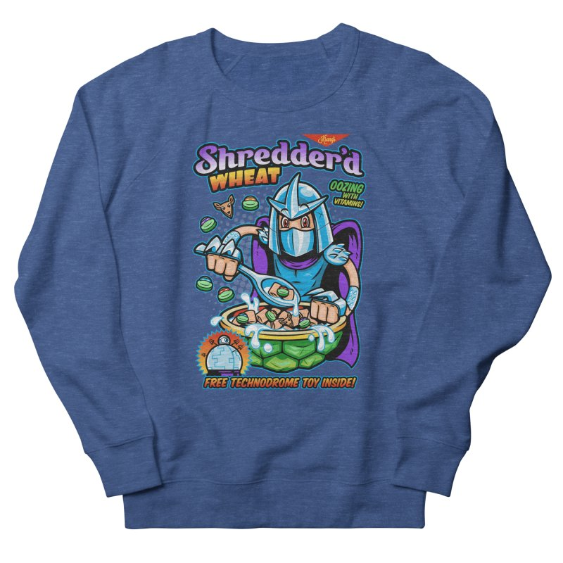 Shredder'd Wheat Men's French Terry Sweatshirt by harebrained's Artist Shop