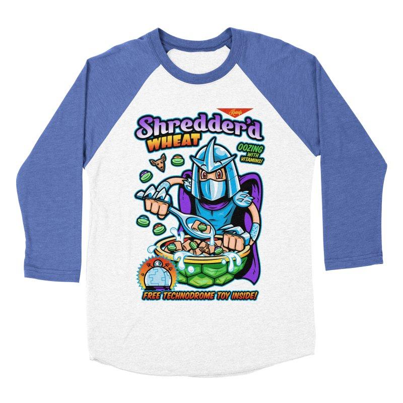 Shredder'd Wheat Men's Baseball Triblend T-Shirt by harebrained's Artist Shop