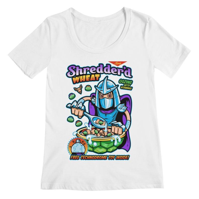 Shredder'd Wheat Women's Regular Scoop Neck by harebrained's Artist Shop