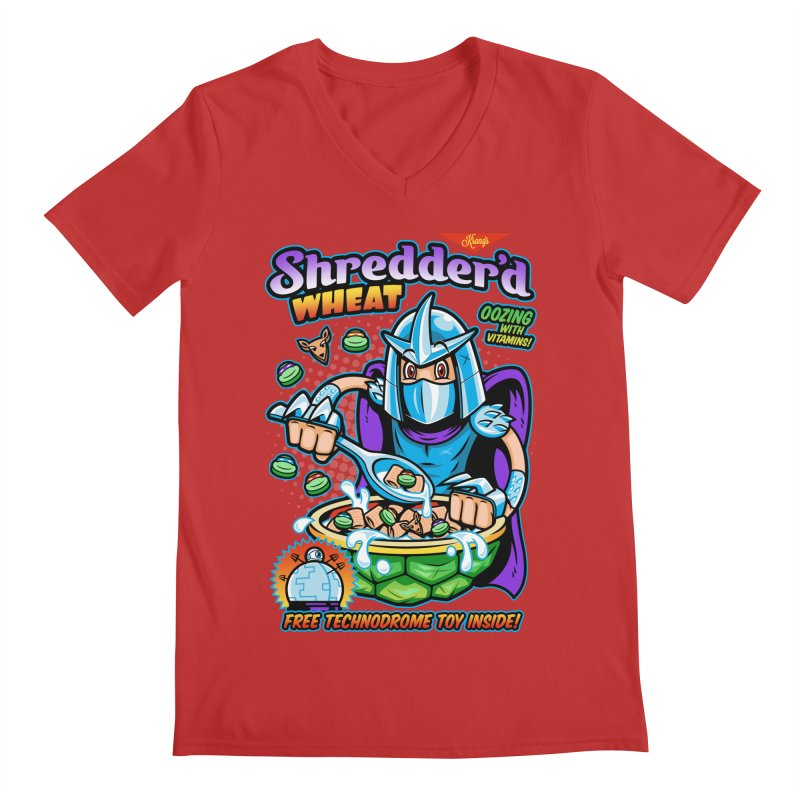 Shredder'd Wheat Men's Regular V-Neck by harebrained's Artist Shop
