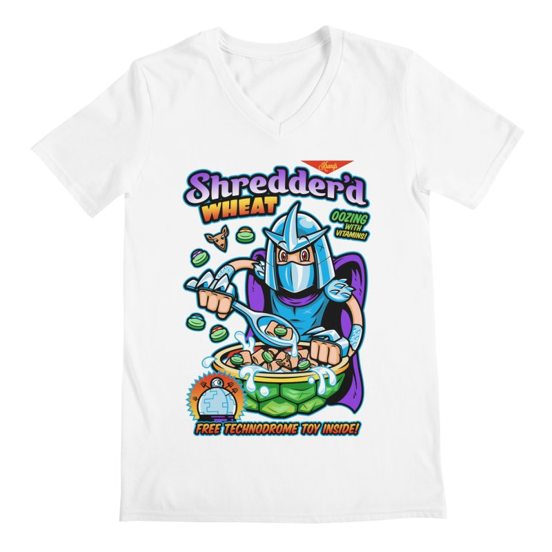 Shredder'd Wheat Men's V-Neck by harebrained's Artist Shop