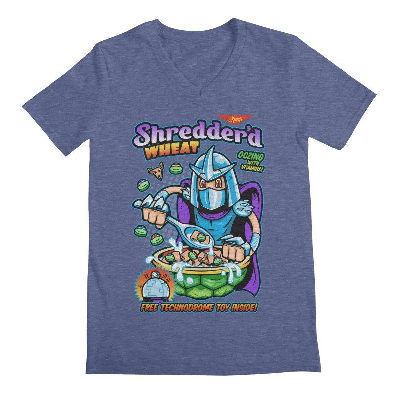 Shredder'd Wheat Men's Regular V-Neck by harebrained's Artist Shop