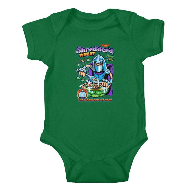 Shredder'd Wheat Kids Baby Bodysuit by harebrained's Artist Shop