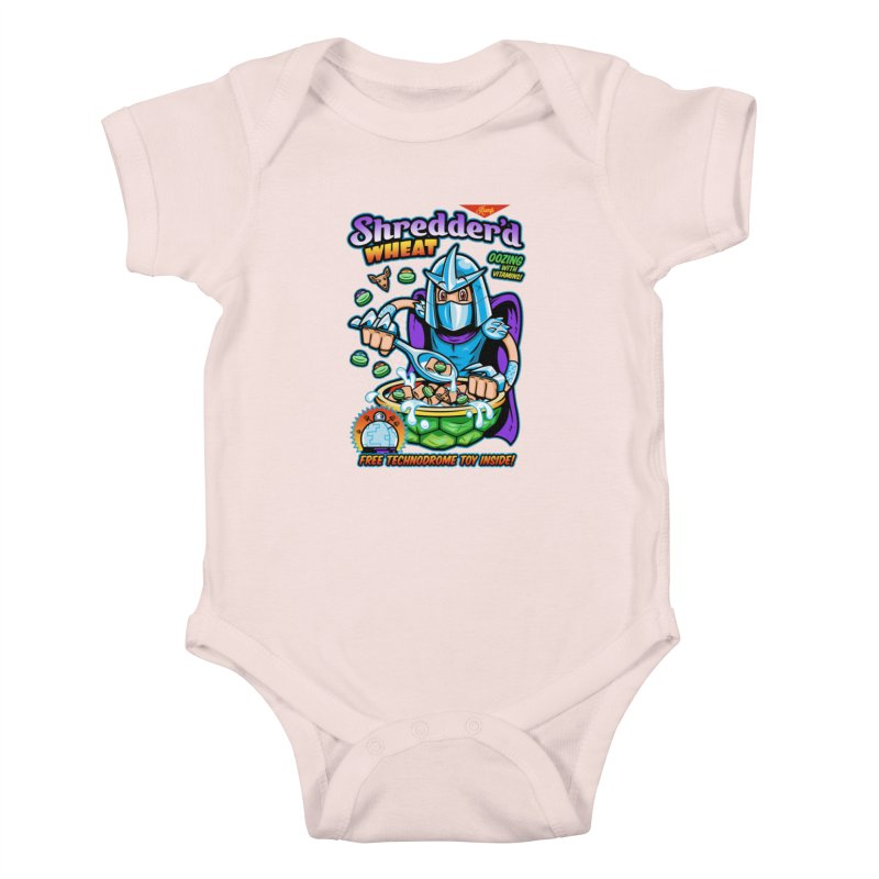 Shredder'd Wheat Kids Baby Bodysuit by harebrained's Artist Shop