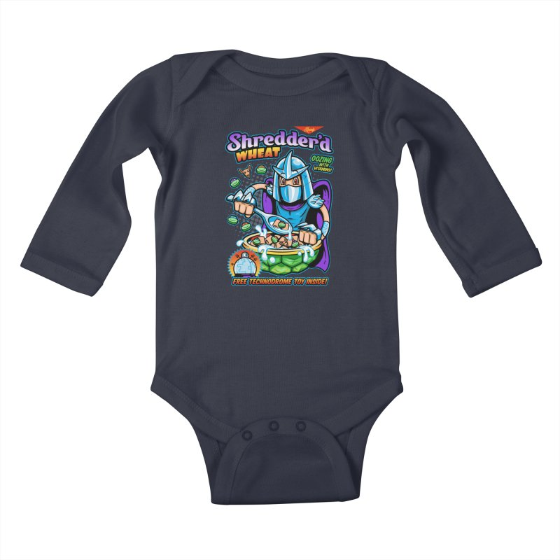 Shredder'd Wheat Kids Baby Longsleeve Bodysuit by harebrained's Artist Shop