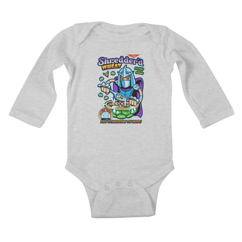 Shredder'd Wheat Kids Baby Longsleeve Bodysuit by harebrained's Artist Shop