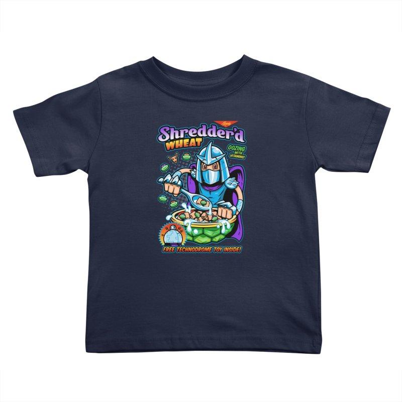 Shredder'd Wheat Kids Toddler T-Shirt by harebrained's Artist Shop